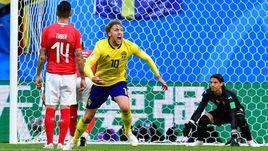Сегодня. Санкт-Петербург. Швеция - Швейцария - 1:0. 66-я минута. Эмиль ФОРСБЕРГ забил единственный гол в матче.