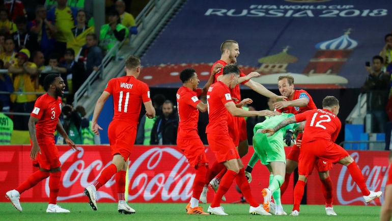 Радость игроков сборной Англии. Фото REUTERS
