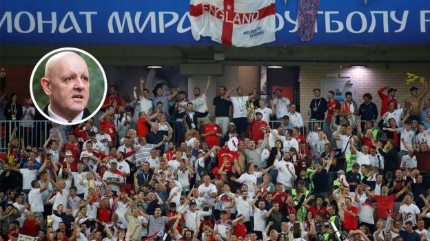 Вторник. Москва. Колумбия - Англия - 1:1, пенальти - 3:4. Фанаты сборной Англии. Фото Reuters