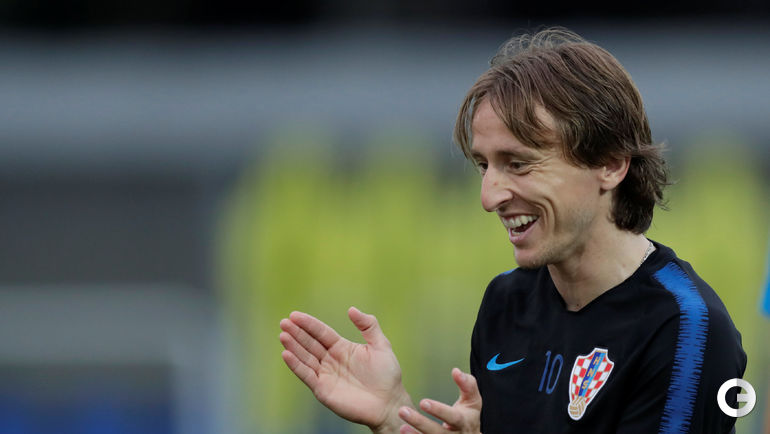 Сегодня. Сочи. Лука МОДРИЧ на тренировке сборной Хорватии.