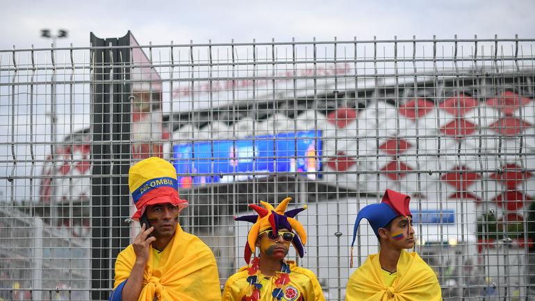 """Вчера. Москва. Болельщики сборной Колумбии. Фото Дарья ИСАЕВА, """"СЭ"""""""