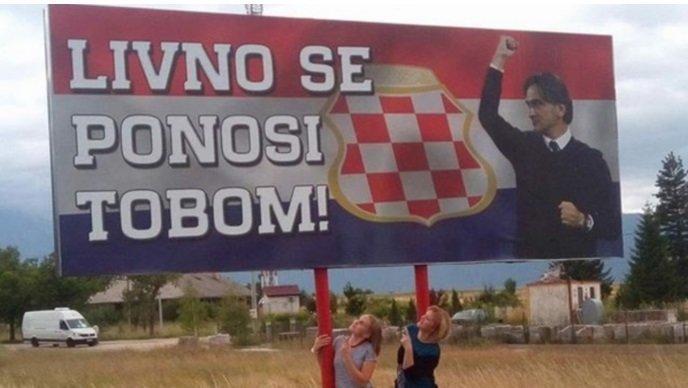 """""""Ливно гордится тобой!"""" – рекламный щит в родном городе Златко Далича. Фото vrisac.info"""