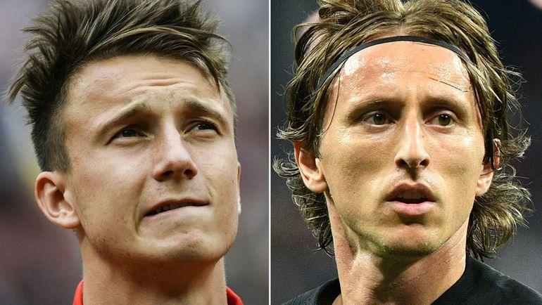 Александр ГОЛОВИН и Лука МОДРИЧ. Фото AFP