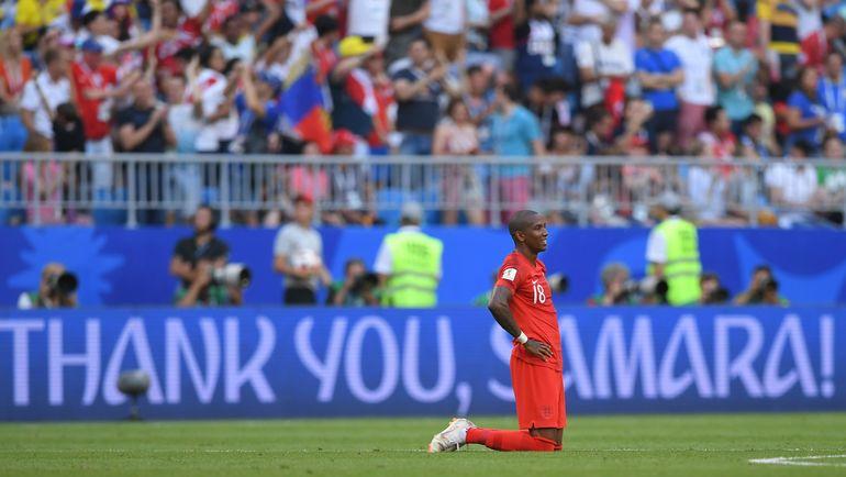 Суббота. Самара. Швеция - Англия - 0:2. Эшли ЯНГ. Фото AFP