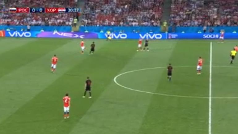 Россия - Хорватия: гол Дениса Черышева.