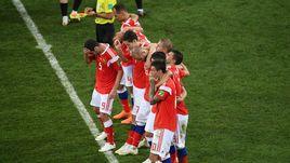 Суббота. Сочи. Россия - Хорватия - 2:2, пенальти - 3:4. Сборная перед серией пенальти.
