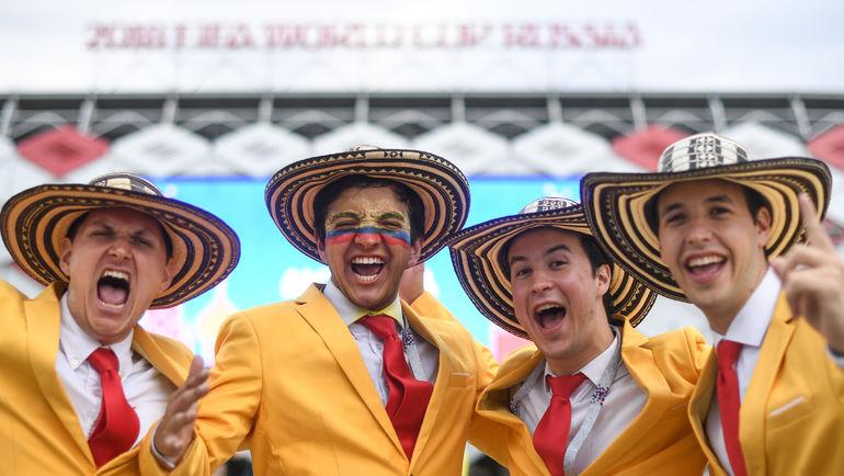 """Колумбийские болельщики. Фото Дарья ИСАЕВА, """"СЭ"""""""