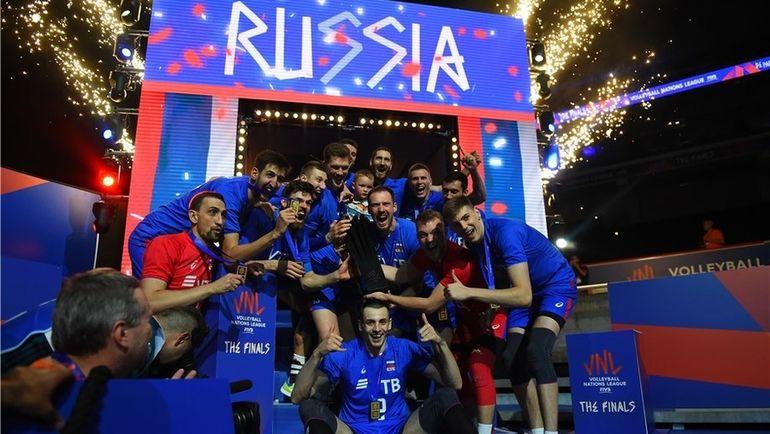 8 июля. Лилль. Сборная России - победитель Лиги наций! Фото FIVB