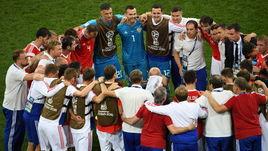 Суббота. Сочи. России – Хорватия – 2:2, пенальти – 3:4. Сборная России перед дополнительным временем.