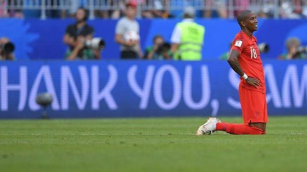 7 июля. Самара. Швеция - Англия - 0:2. Эшли ЯНГ. Фото AFP