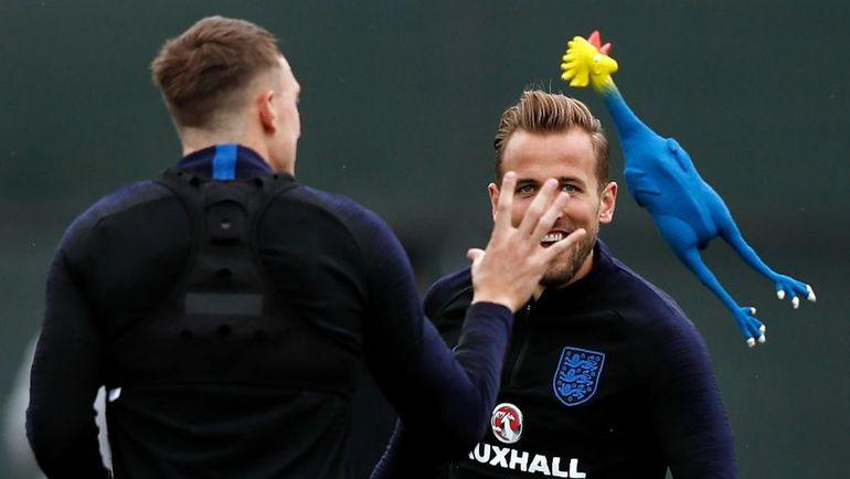 Сегодня. Репино. Тренировка сборной Англии.
