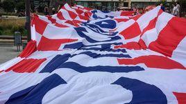 Баннер хорватских болельщиков.
