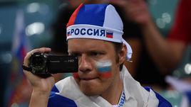7 июля. Сочи. Россия - Хорватия - 2:2, пенальти - 3:4. Болельщик сборной России.