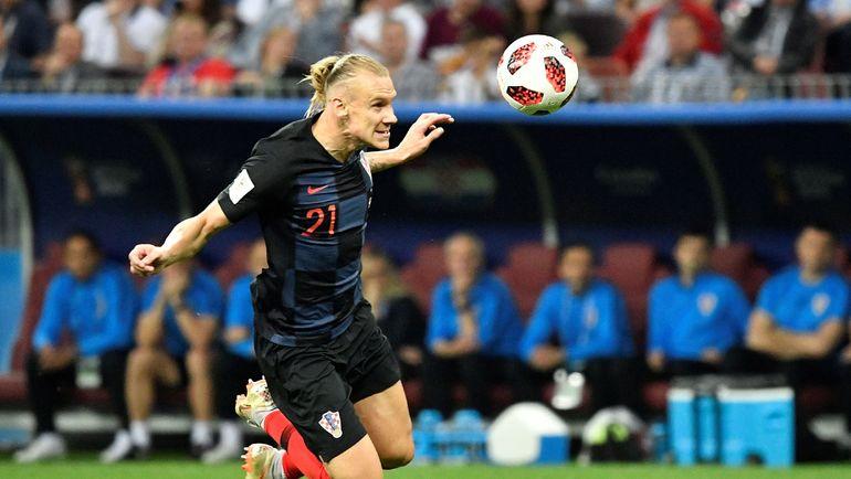Домагой ВИДА в матче Хорватия - Англия. Фото AFP