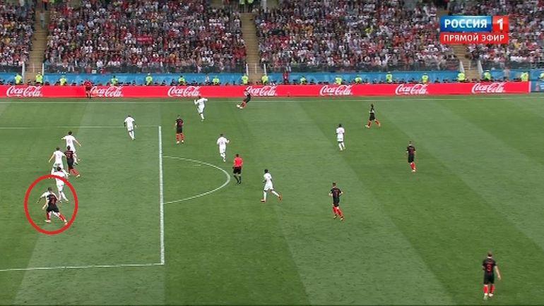 68-я минута матча Хорватия - Англия.
