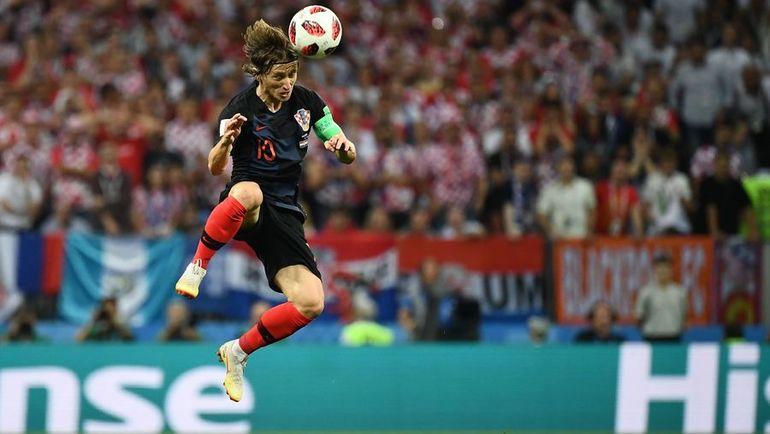 Лука МОДРИЧ в матче Хорватии и Англии. Фото AFP