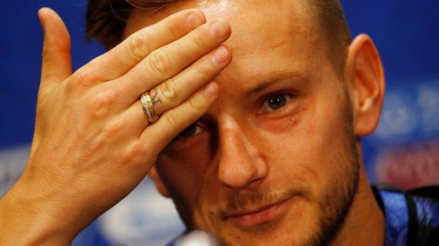 Иван РАКИТИЧ обещает сделать татуировку на лбу в случае победы Хорватии в финале чемпионата мира. Фото Reuters