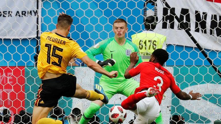 Сегодня. Санкт-Петербург. Бельгия - Англия - 2:0. 5-я минута. Тома МЕНЬЕ открывает счет в матче. Фото REUTERS