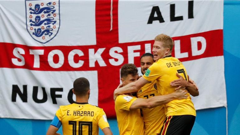 Суббота. Санкт-Петербург. Бельгия - Англия - 2:0. Радость бельгийцев после забитого гола. Фото REUTERS