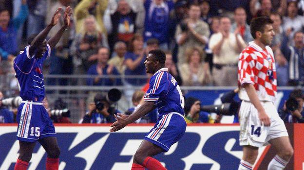 8 июля 1998 года. Сен-Дени. Франция - Хорватия - 2:1. Фото Reuters