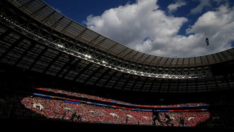 """Вид на стадион """"Лужники"""" во время матча чемпионата мира. Фото REUTERS"""