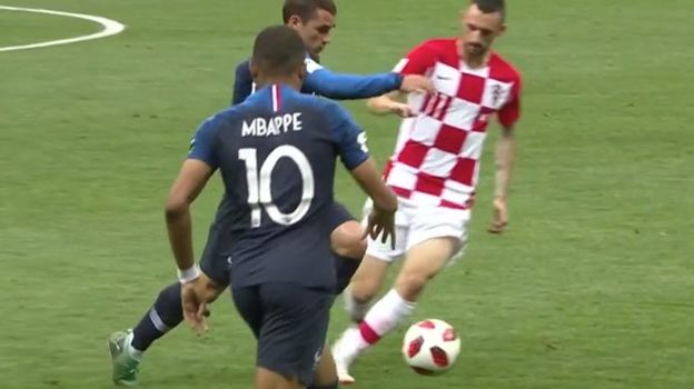 Франция - Хорватия: гол на 18-й минуте.
