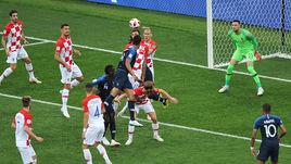 15 июля. Москва. Лужники. Франция – Хорватия – 4:2. 18-я минута. Марио МАНДЖУКИЧ (№ 17) забивает гол в свои ворота.