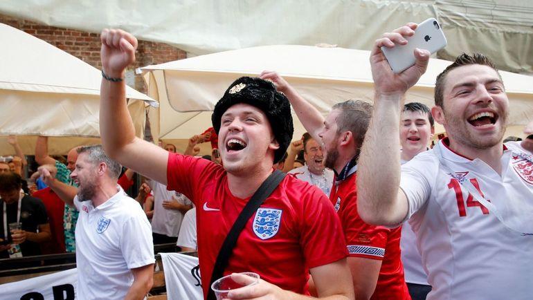 Английские фанаты во время ЧМ-2018 отметились рядом инцидентов. Фото AFP