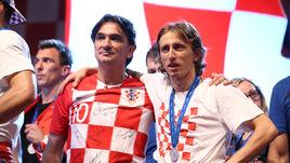 Главный тренер сборной Хорватии Златко ДАЛИЧ и полузащитник Лука МОДРИЧ.