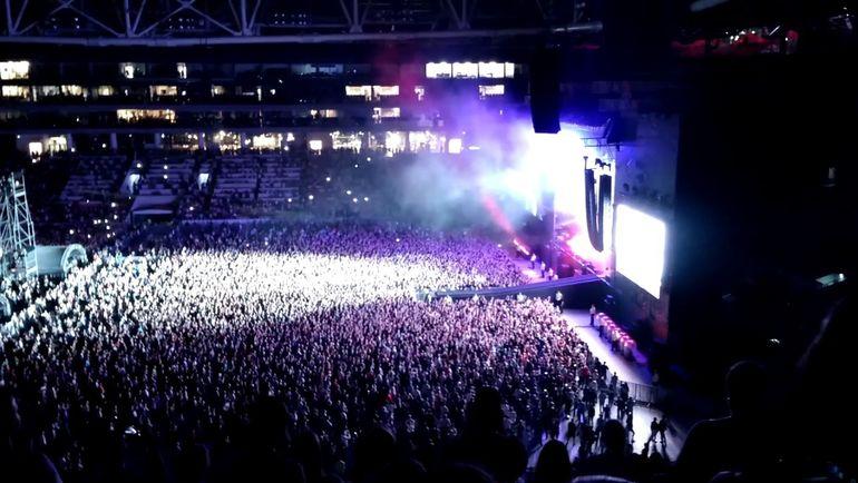 """Концерт Depeche Mode на """"Открытие Арене"""" в 2017-м собрал 50 тысяч зрителей. Фото Youtube"""