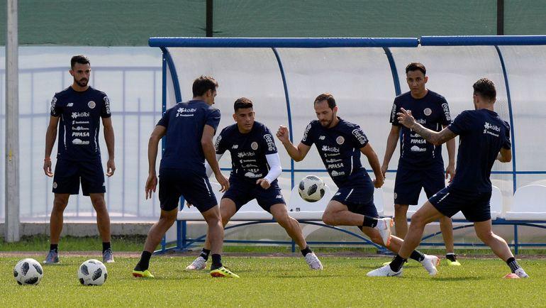 Сборная Коста-Рики на тренировке. Фото AFP