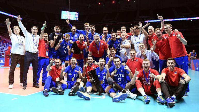 Вице-премьер поздравила волейболистов с победой в первой в истории Лиги наций. Фото volleyball.world