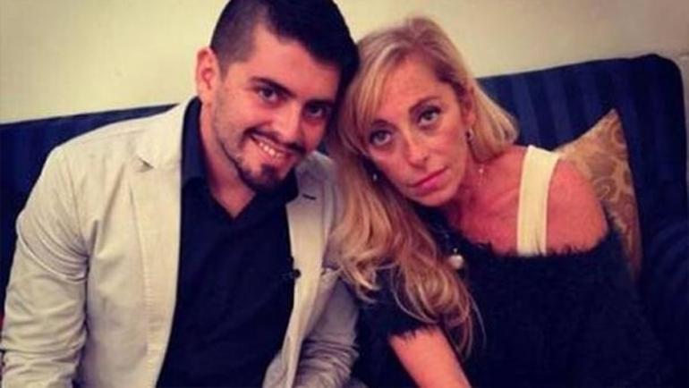 Кристина Синагра и внебрачный сын Марадоны – Диего-младший. Фото Infobae