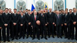 Сборная России побывала на приеме у Владимира Путина