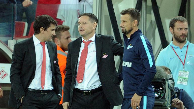 Дмитрий АЛЕНИЧЕВ (в центре) и Сергей СЕМАК (справа): новая встреча в новом качестве. Фото Алексей ИВАНОВ