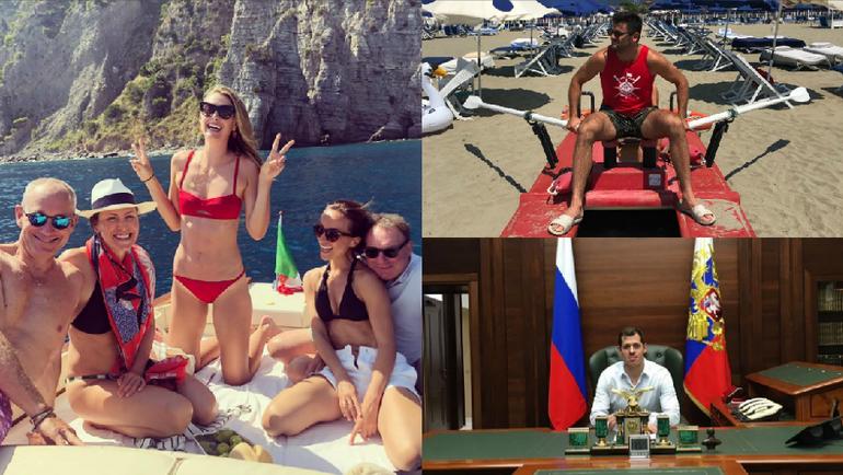 Мария ШАРАПОВА, Александр РАДУЛОВ и Евгений МАЛКИН. Фото instagram.com