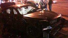 Машина Федора Смолова после ДТП.