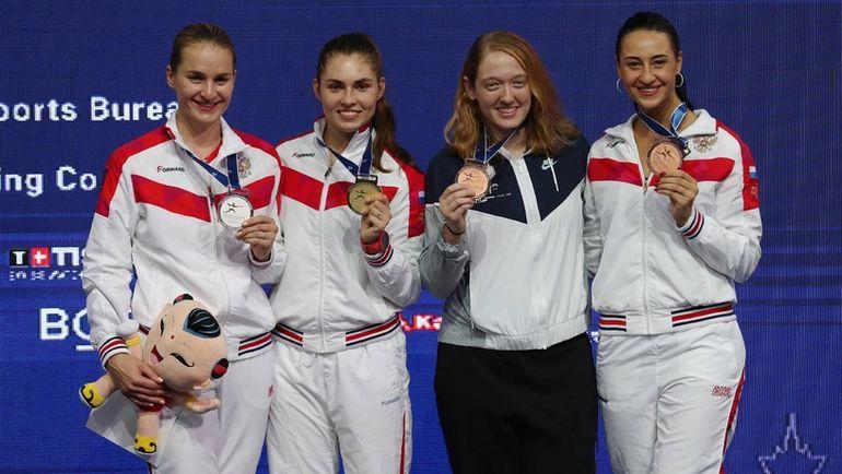 Яна ЕГОРЯН (крайняя справа). Фото AFP