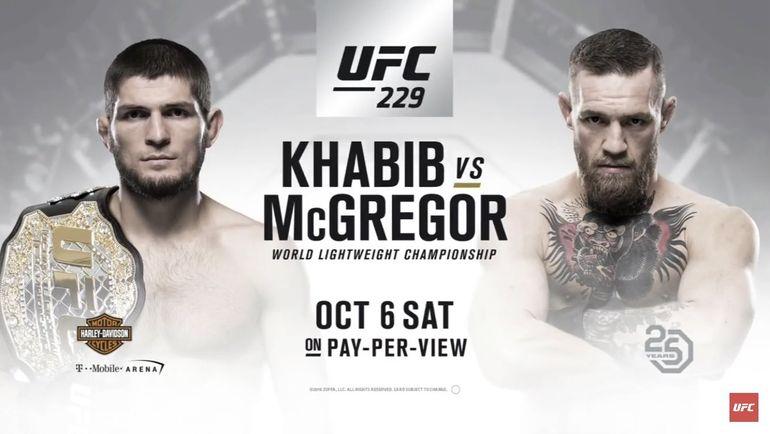 Афиша боя Хабиб Нурмагомедов - Конор Макгрегор. Фото UFC