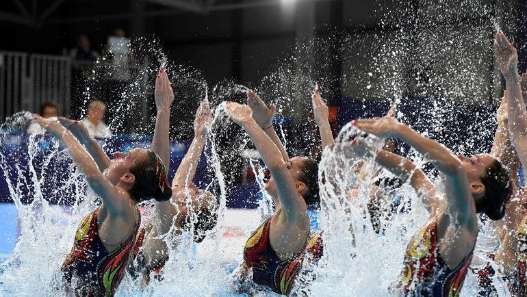 4 августа. Глазго. Сборная России по синхронному плаванию. Фото AFP