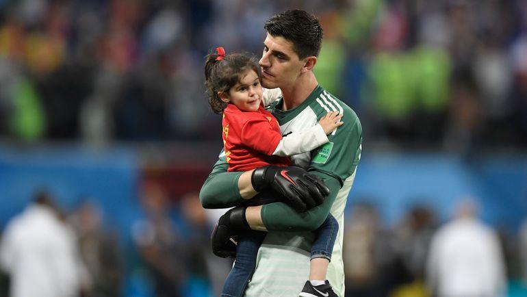 Тибо КУРТУА с дочерью Адрианой. Фото AFP