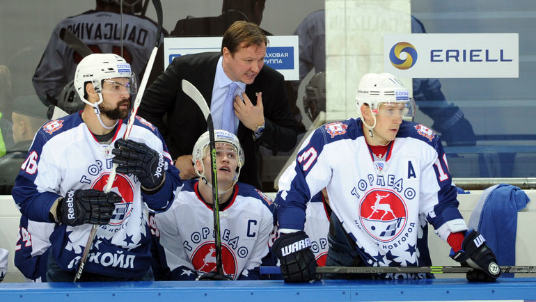 Каспар ДАУГВИНЬШ (слева) и Петерис СКУДРА (в центре). Фото Никита УСПЕНСКИЙ