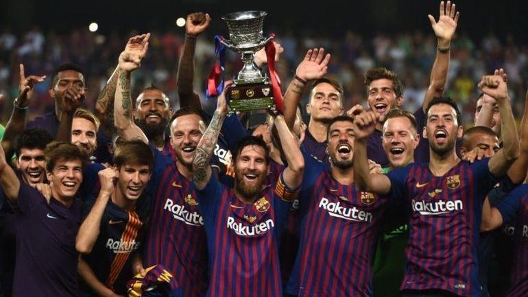 """Лионель МЕССИ и """"Барселона"""" с Суперкубком Испании."""