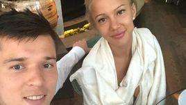 Дмитрий ПОЛОЗ с супругой.