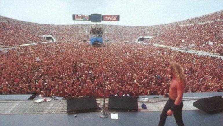 Концерт группы Metallica в Москве. 1991 год.