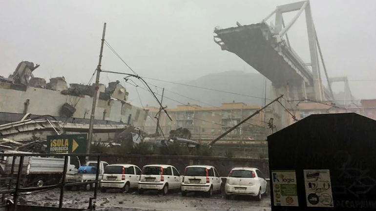 14 августа. Генуя. Обрушившийся мост Моранди.
