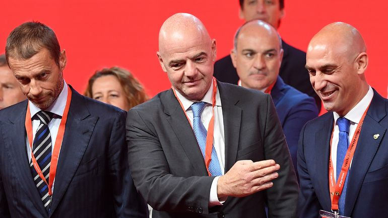 Президент ФИФА Джанни ИНФАНТИНО (в центре). Фото AFP