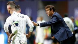 """Среда. Таллин. """"Реал"""" - """"Атлетико"""" - 2:4 д.в. Хулен ЛОПЕТЕГИ (справа)."""