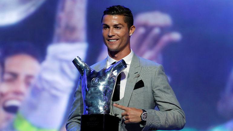 КРИШТИАНУ РОНАЛДУ - лучший игрок сезона-2016/17 по версии УЕФА. Фото REUTERS