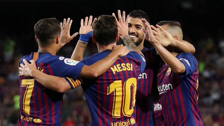 """Футболисты """"Барселоны"""". Фото AFP"""